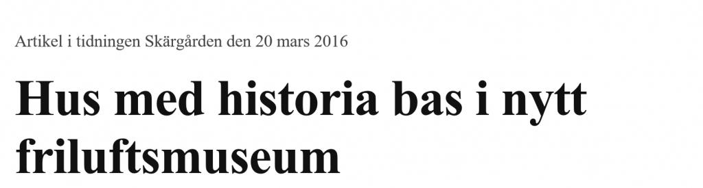 Tidningen Skärgården den 20 april 2016